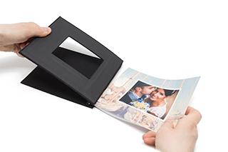 Couvertures rigides clipsées pour photo book, insérer vos feuilles dans le couverture.