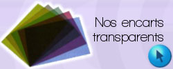 Encarts transparents pour reliure