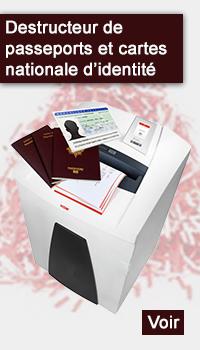 Destructeur de passeports et cartes d'identité nationale