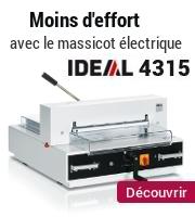 Moins d'efforts ave cle massicot électrique Ideal 4315