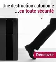 Découvrez l'innovation de l'année 2013 en matière de destructeurs : les déchiqueteuses à chargement automatique