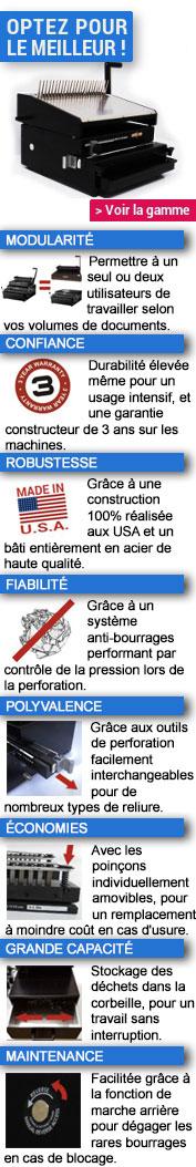 Relieuses professionnelles pour anneaux plastiques
