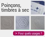 Poinçons, timbres à sec : pour quels usages ?