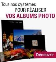 Nos systèmes pour réaliser vous-même vos albums photo professionnels