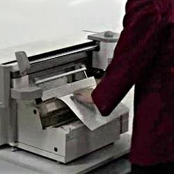 3- Actionnez la presse