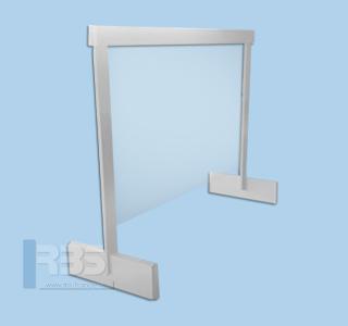Écran de protection en plexiglas pour bureau et comptoir
