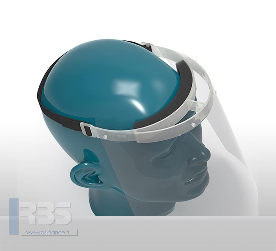 Visière de protection confort, support frontal avec mousse anti-irritations