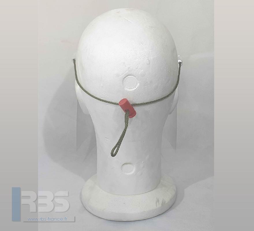 Visière de protection 3D légère avec cordon réglable, très bon maintien