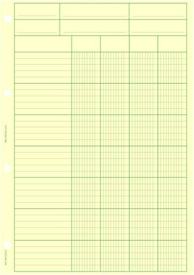 Bloc 29.7x 21 vertical 4 colonnes - Coloris : Chamois
