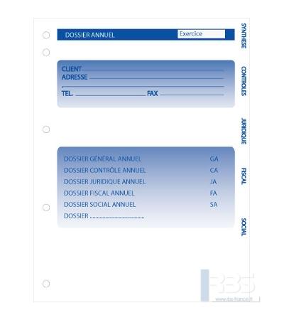 Dossier annuel simplifié version classeur