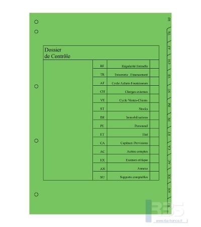 Dossier de contrôle 14 onglets