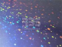 Film hologramme étoiles
