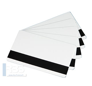 Cartes PVC blanches avec bande magnétique MAG LOCO  0.76 mm
