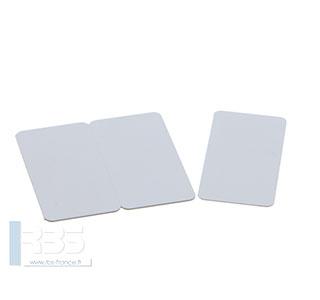 Cartes PVC blanches sécables en trois 0.76 mm