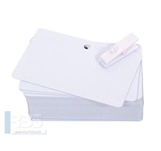Cartes PVC blanches pré-perforées 0.50 mm