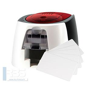 Cartes PVC blanches 0.76 mm pour BADGY 200