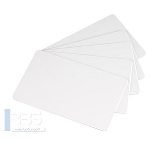 Cartes PVC blanches 0.76 mm