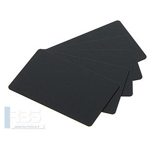Cartes PVC noires mates 0.76 mm