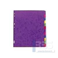Intercalaire carte lustrée maxi 12 touches