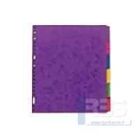 Intercalaire carte lustrée maxi 6 touches
