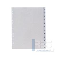 Intercalaires maxi polypro mensuel 12 touches