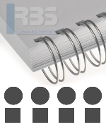 Reliure anneaux métalliques pas 2:1