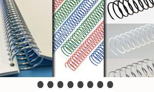 Reliure spirale coil métallique pas 4:1