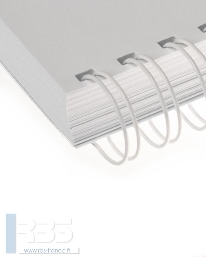 Anneaux métalliques 23 boucles pas 2:1 format A4 - Coloris : Blanc
