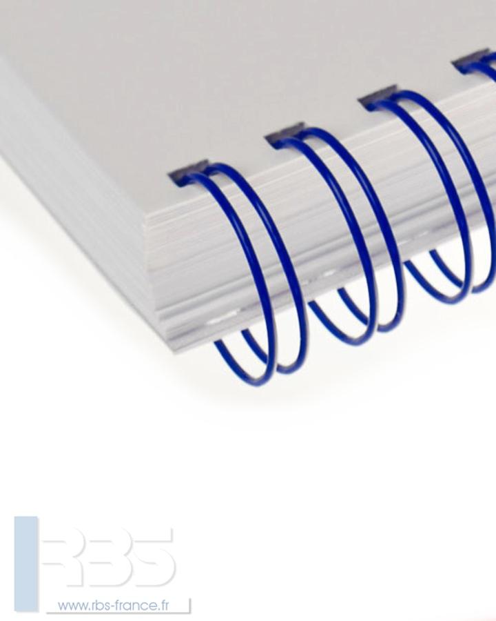 Anneaux métalliques 23 boucles pas 2:1 format A4 - Coloris : Bleu