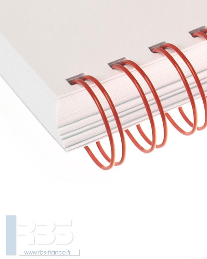 Anneaux métalliques 23 boucles pas 2:1 format A4 - Coloris : Rouge