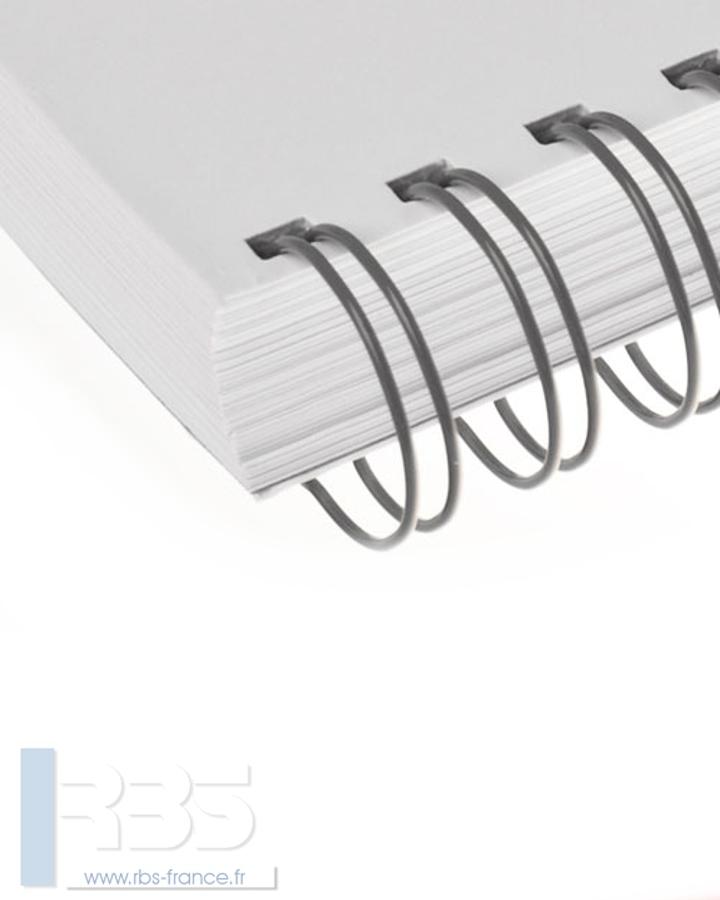 Anneaux métalliques 23 boucles pas 2:1 format A4 - Coloris : Gris