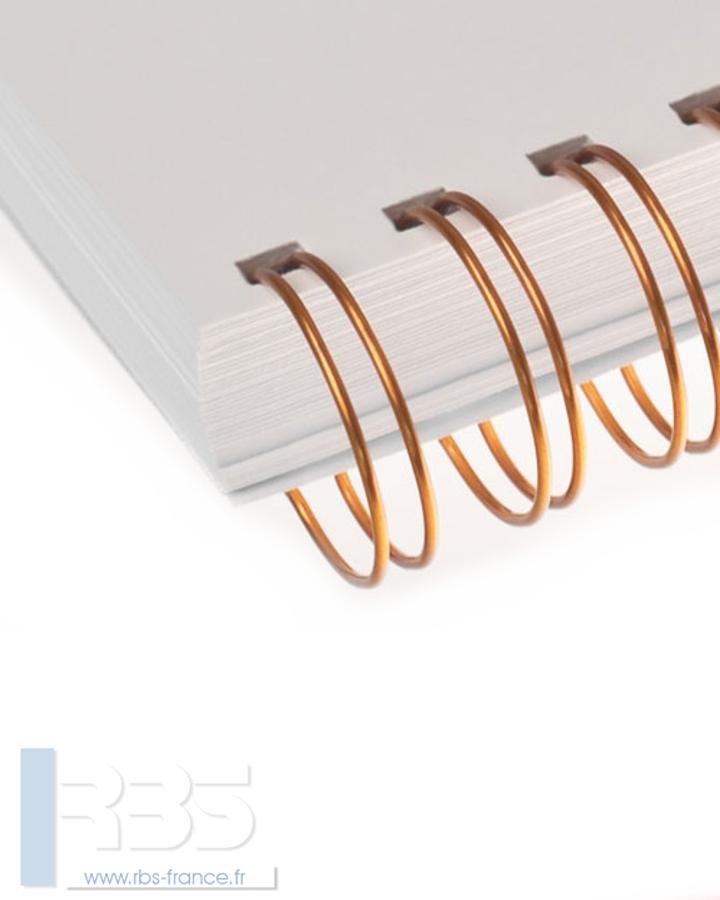 Anneaux métalliques 24 boucles pas 3:1 format A5 - Coloris : Or