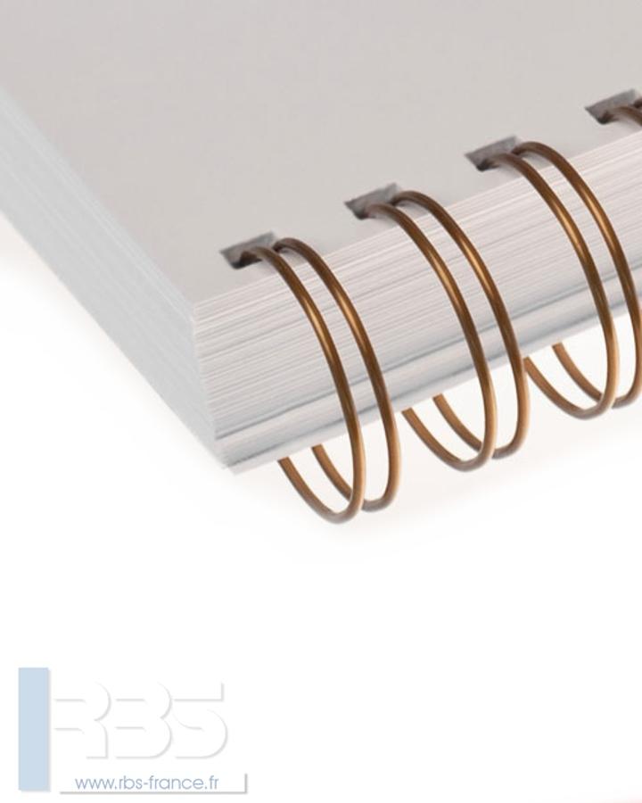 Anneaux métalliques 23 boucles pas 2:1 format A4 - Coloris : Bronze