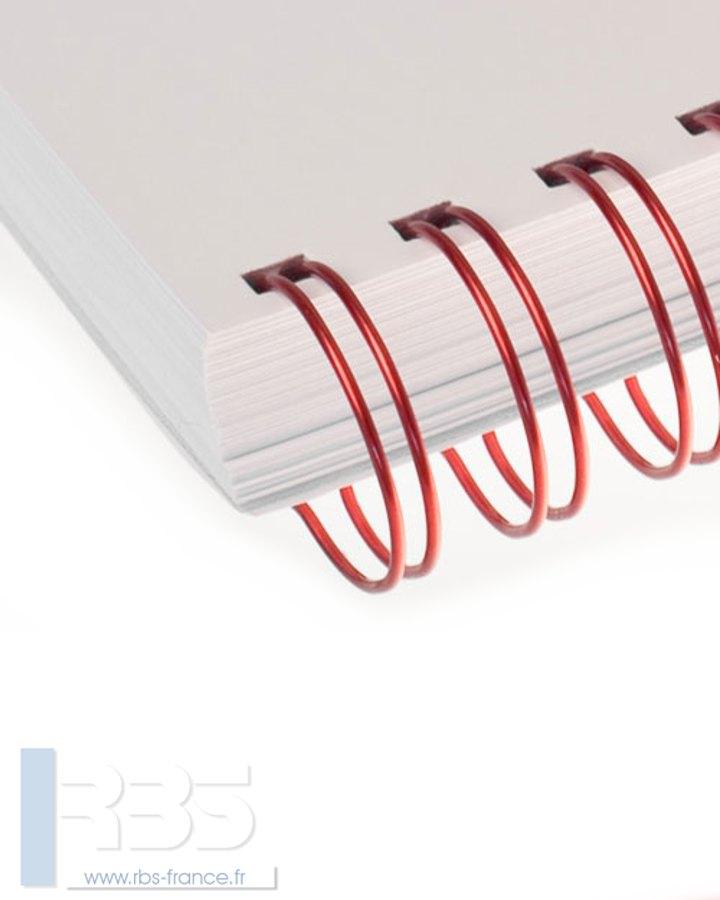 Anneaux métalliques 23 boucles pas 2:1 format A4 - Coloris : Rouge Metal