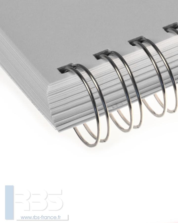 Anneaux métalliques 23 boucles pas 2:1 format A4 - Coloris : Argent Brillant