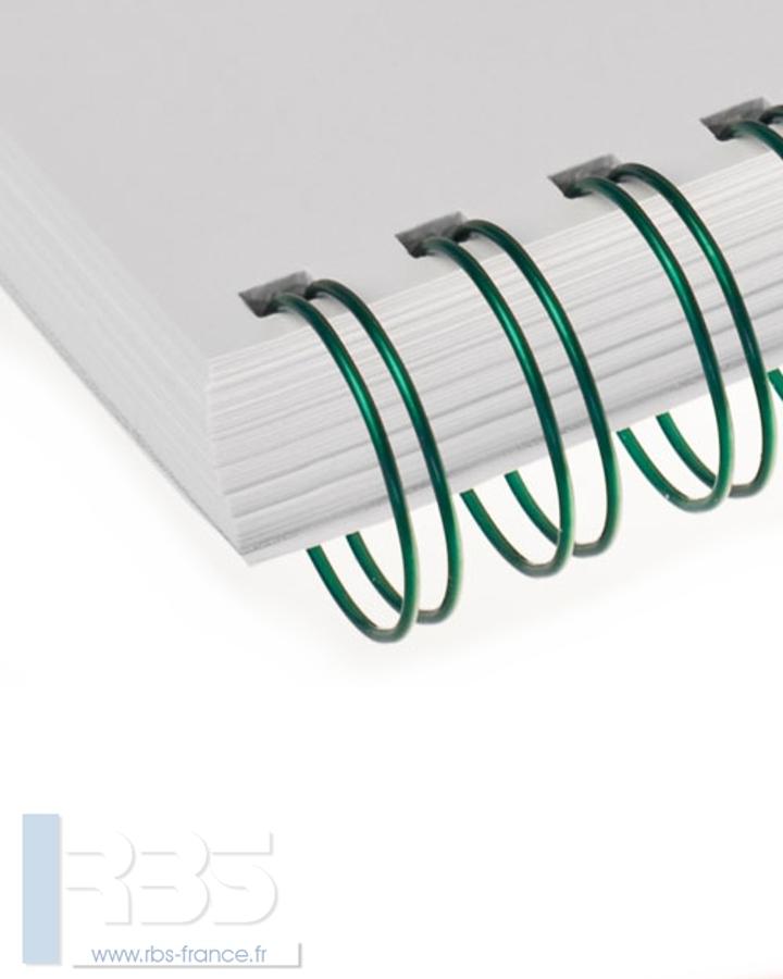 Anneaux métalliques 34 boucles pas 3:1 format A4 - Coloris : Vert Metal