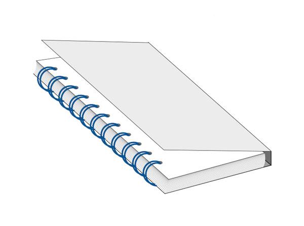 Type de reliure anneau métallique dite « publisher »