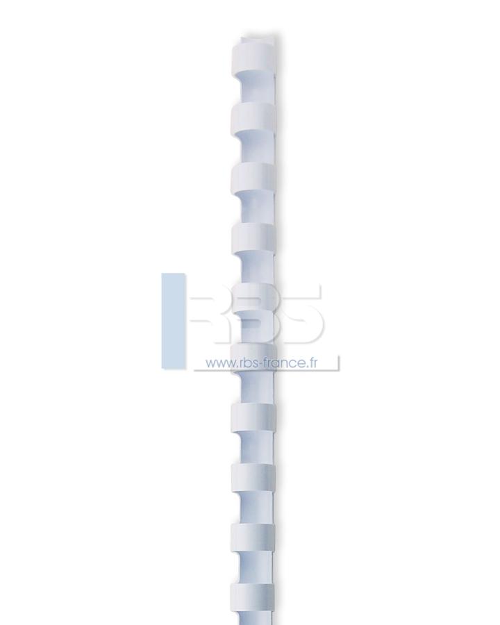 Anneaux plastiques 21 trous - A4- 14.28 - Coloris : Blanc