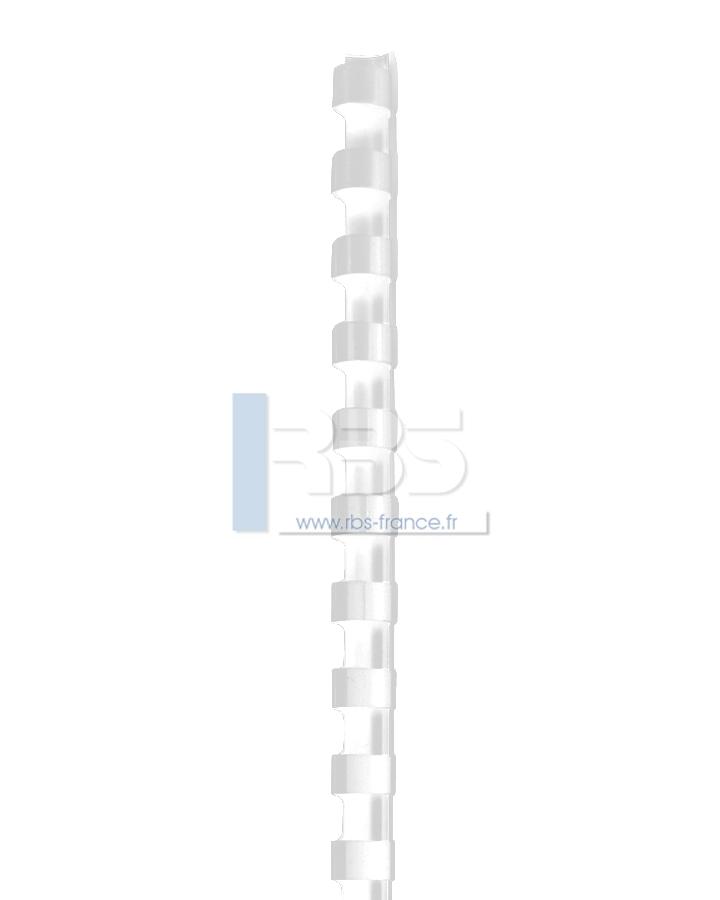 Anneaux plastiques 21 trous - A4- 14.28 - Coloris : Transparent