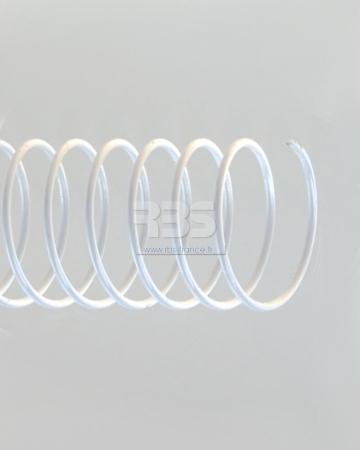 Spirale coil métallique pas 6mm format A4 STANDARD - Coloris : Blanc