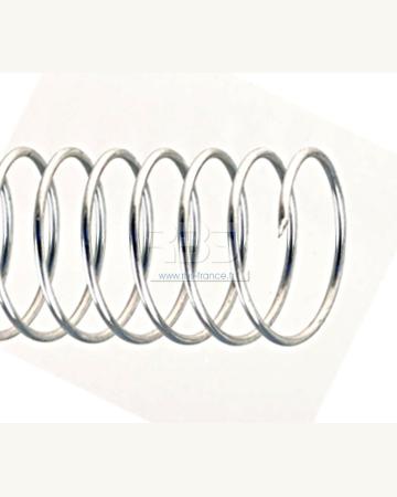 Spirale coil métallique pas 6mm format A4 STANDARD - Coloris : Argent Brillant