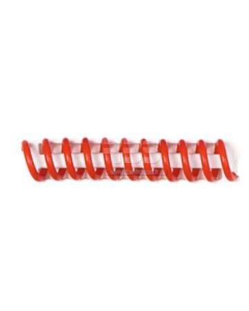 Spirale coil plastique pas 4:1 format A4 CREATIVE - Coloris : Rouge