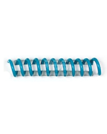 Spirale coil plastique pas 4:1 format A4 CREATIVE - Coloris : turquoise