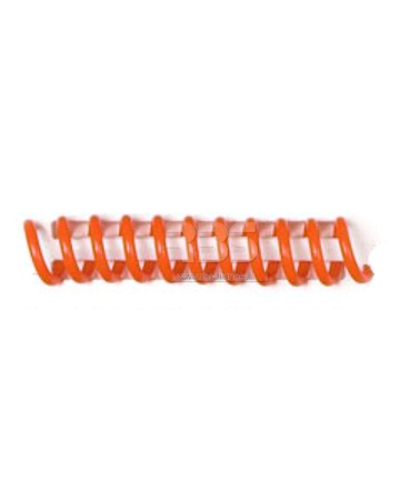 Spirale coil plastique pas 6mm format A4 CREATIVE - Coloris : Orange