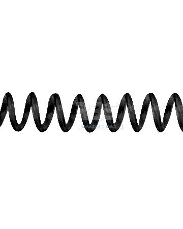 Spirale coil plastique pas 4:1 format A3 CLASSIQUE - Coloris : Noir