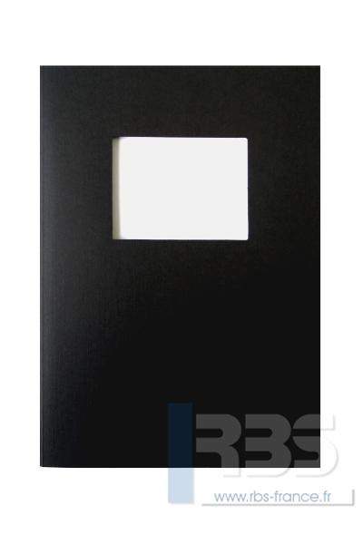 Couvertures Advocate avec fenêtre - Coloris : Noir