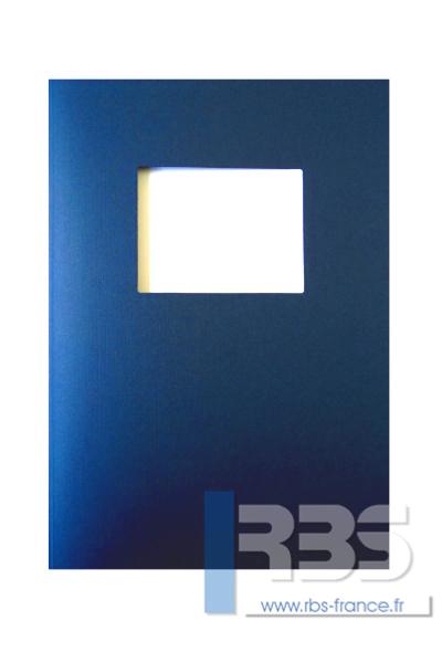 Couvertures Advocate avec fenêtre - Coloris : Bleu