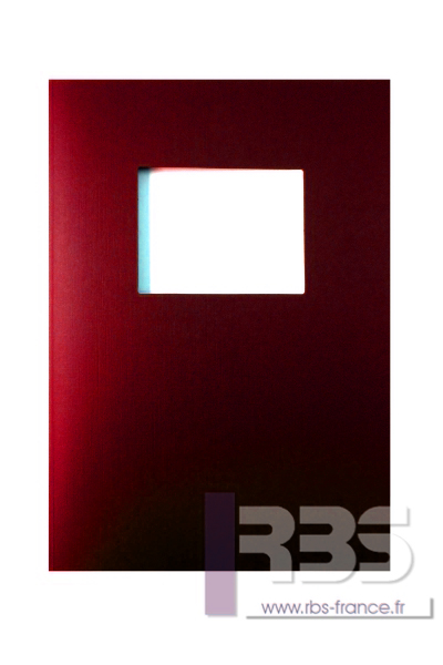 Couvertures Advocate avec fenêtre - Coloris : Rouge