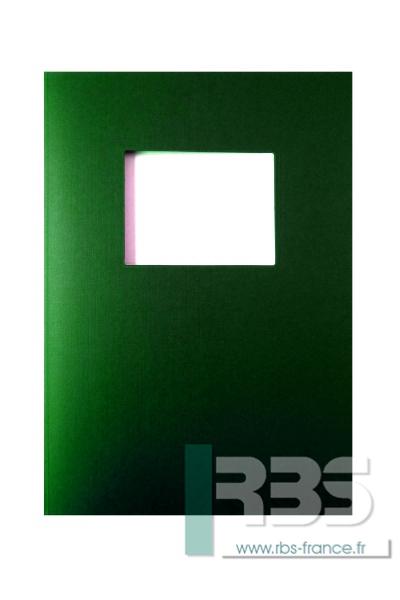 Couvertures Advocate avec fenêtre - Coloris : Vert