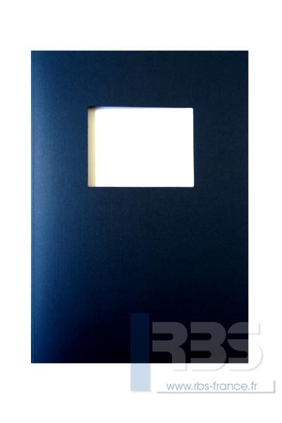 Couvertures Advocate avec fenêtre - Coloris : Bleu foncé